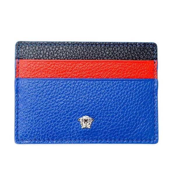 Versace Handbags - Medusa Leather Unisex Credit Card Slim Wallet